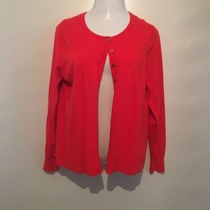 Old Navy red cardigan. Never worn. Size xlarge